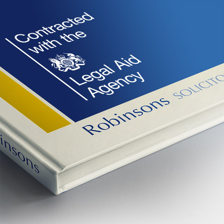 Contracted with the Legal Aid Agency Robinsons Solicitors